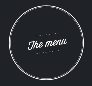 Carte et menus EN